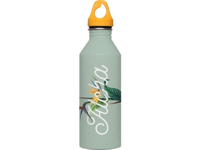 MIZU M8 Bottle with Lt Orange Loop Cap 800ml, aloha glossy mint
